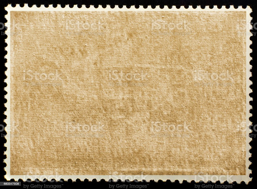 Old grunge posted stamp reverse side stock photo