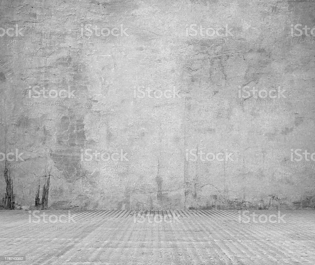 old grunge room with concrete wall royalty-free stock photo