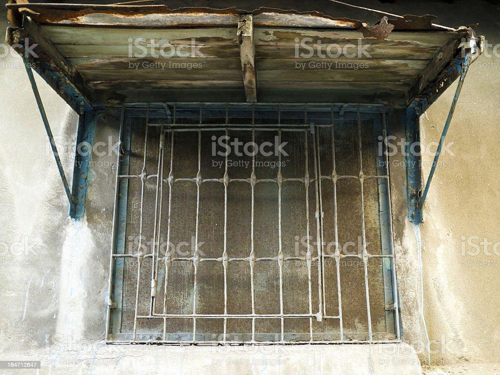 old grunge weathered window royalty-free stock photo