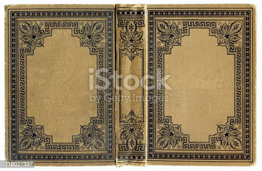 istock Old grunged ancient Book cover 116027337