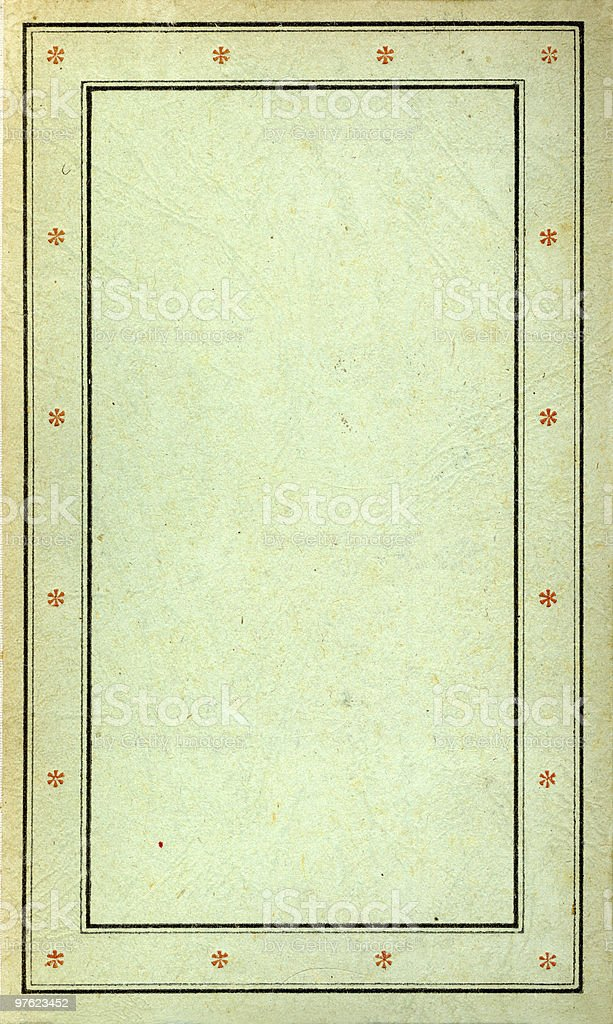 Old grunged, stained  green book royalty-free stock photo