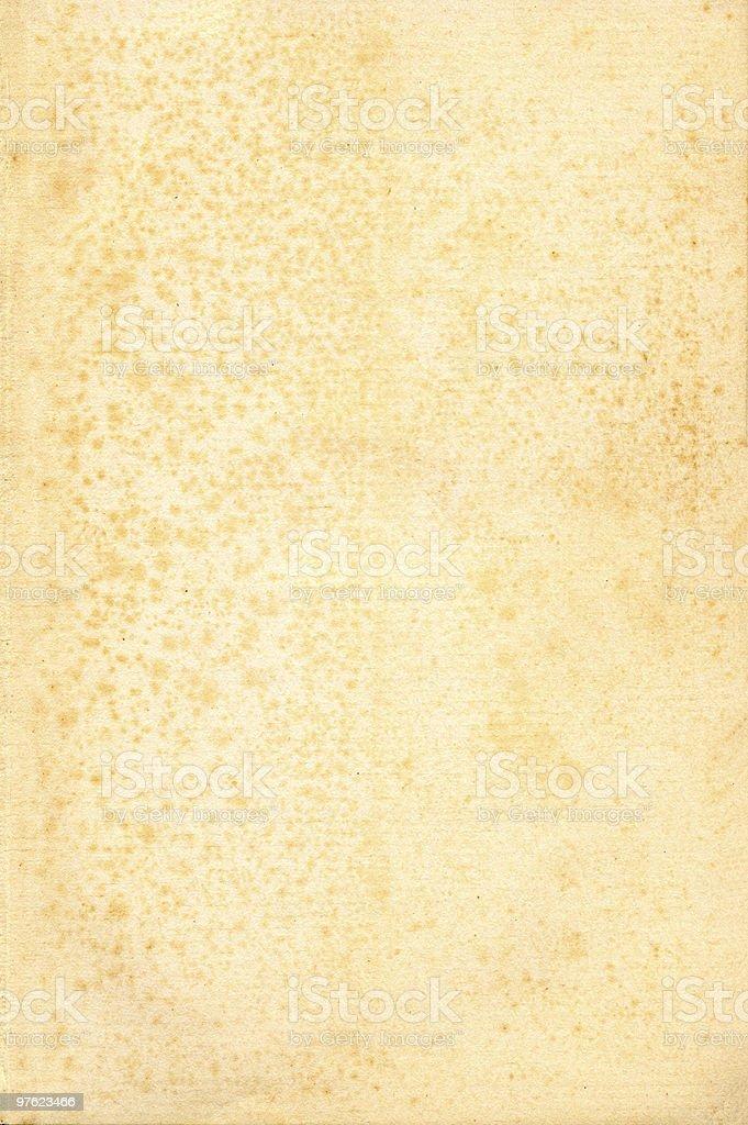 Vieux papier grunged, teinté jaunes photo libre de droits