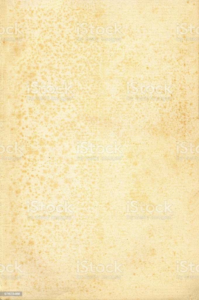 Old grunged, stained yellowed paper royaltyfri bildbanksbilder