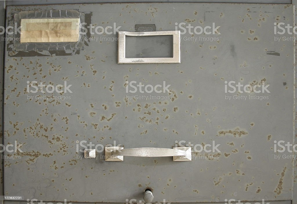 Old Grungy File Cabinet royalty-free stock photo