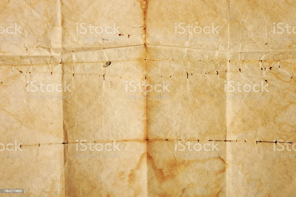 Old grungy paper royalty-free stock photo