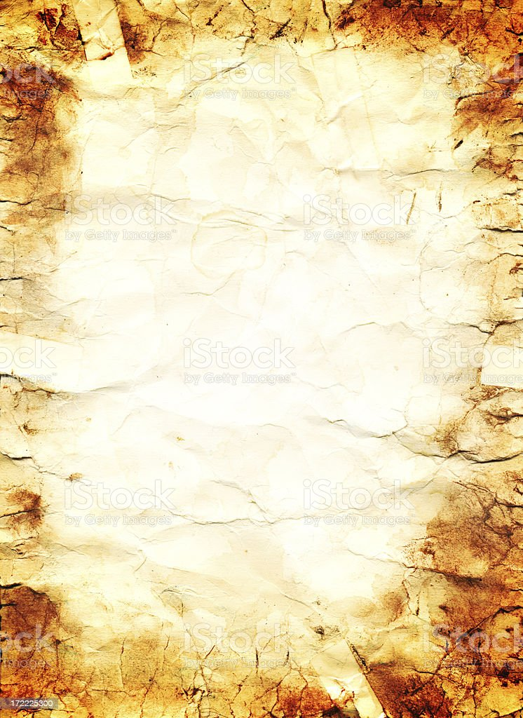Old Grungy Paper XXXL royalty-free stock photo