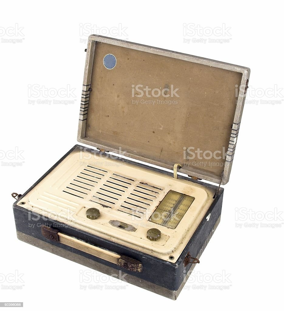 Old Grungy Valve Radio Case Open royalty-free stock photo