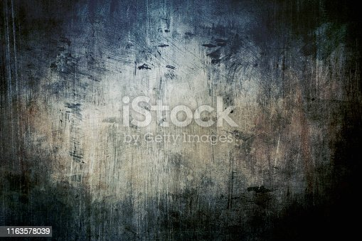 Abstract painting background or texture with dark vignette borders