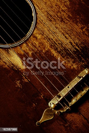 istock Old guitar detail 162587995