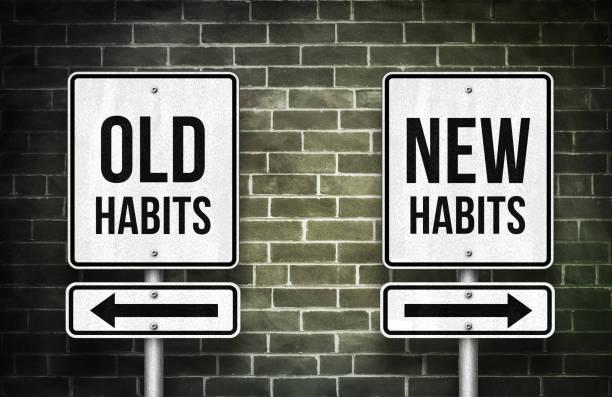 alte Gewohnheiten und neue Gewohnheiten – Foto