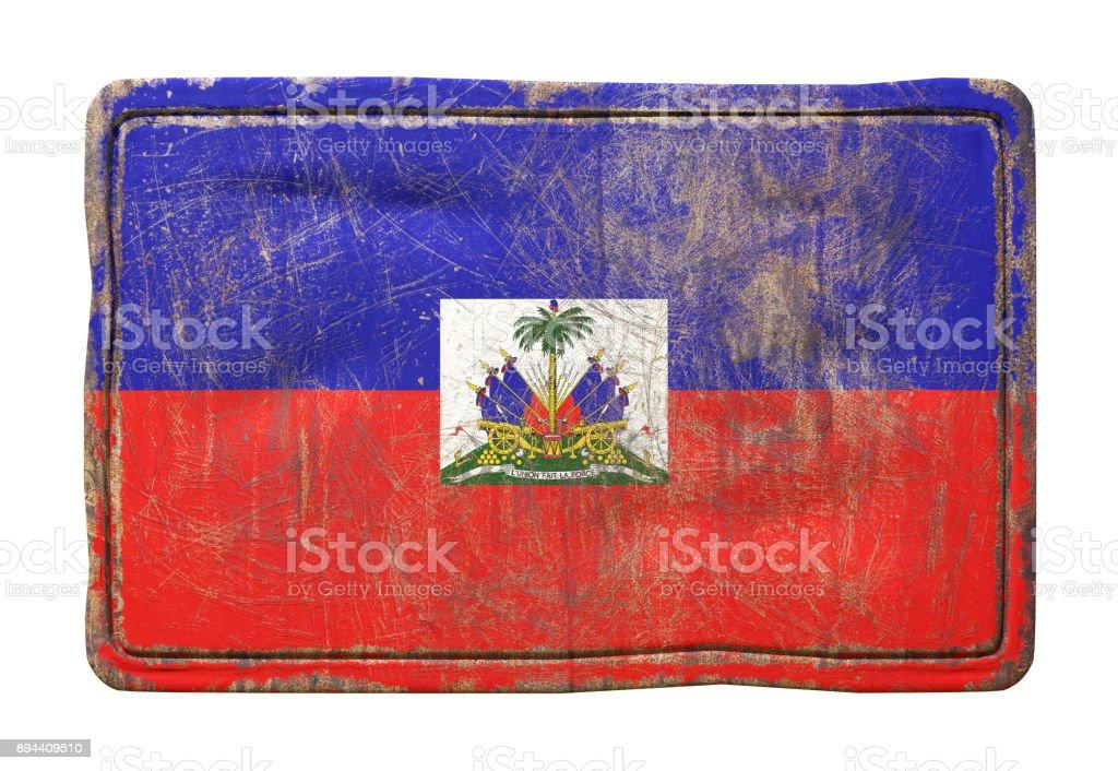 Old Haiti flag stock photo