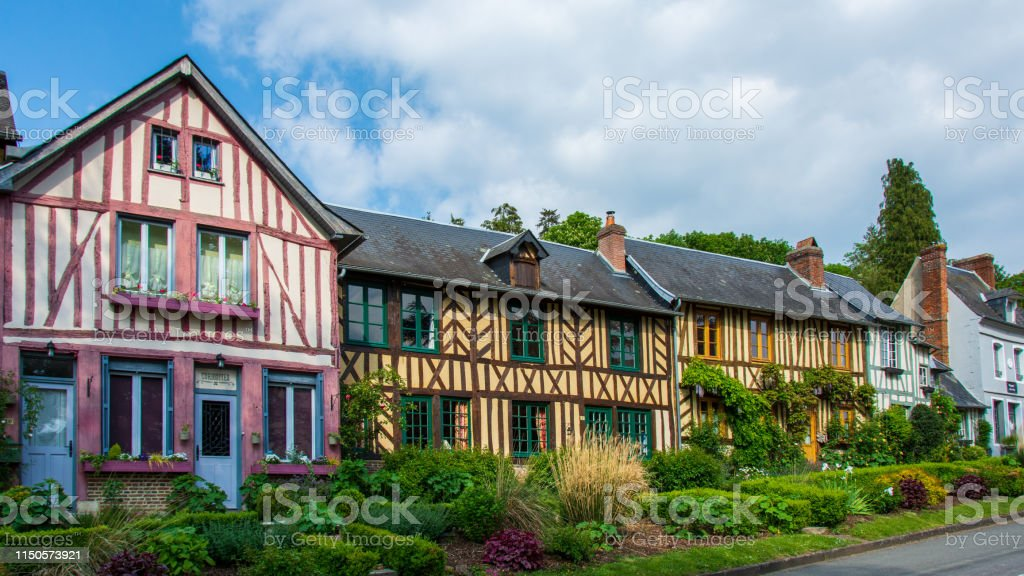 Old Halftimbered Houses Typical French Normandy Style Stock Photo Download Image Now Istock