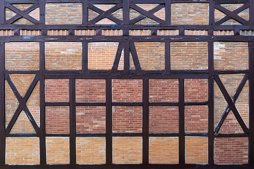 Old half-timbered with bricks