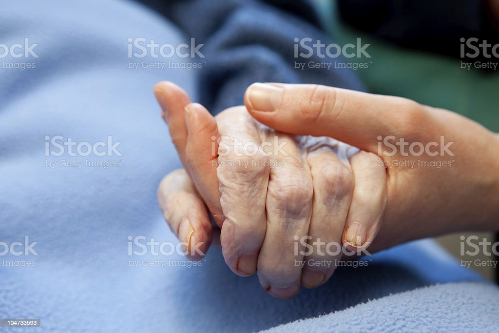 Old Hand Care Elderly stock photo