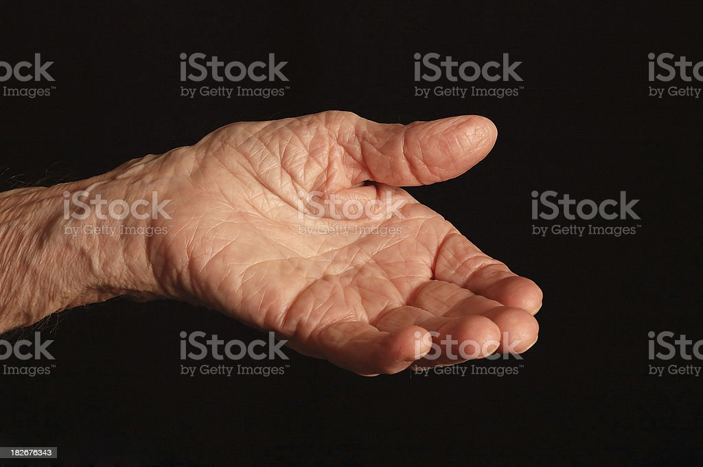 old hand royalty-free stock photo
