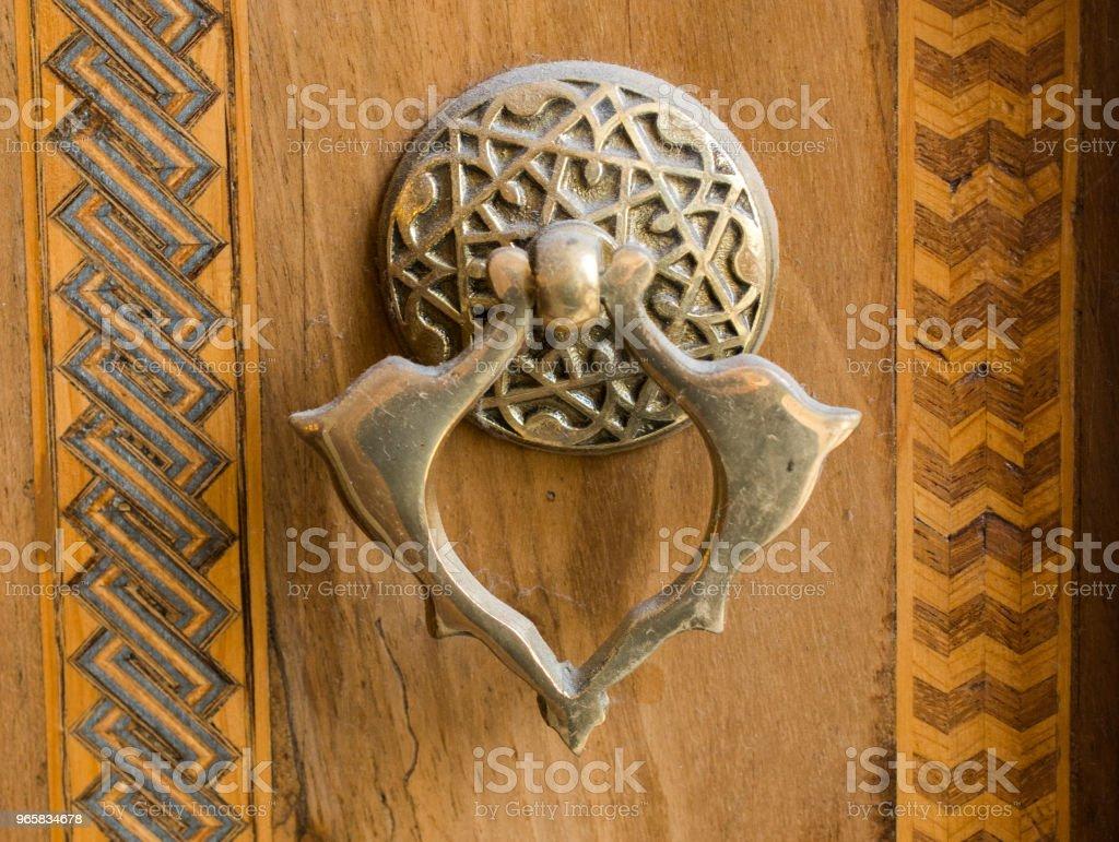 Oude handgemaakte Ottomaanse metalen deurklink - Royalty-free Antiek - Ouderwets Stockfoto