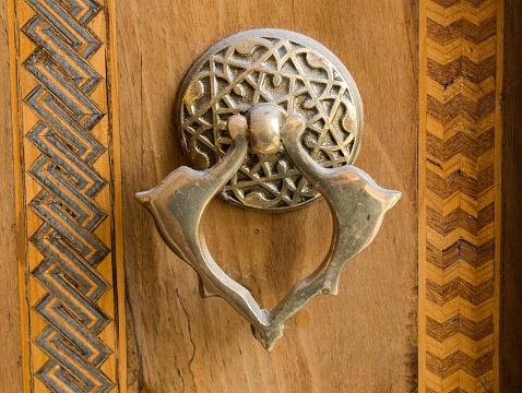 Oude Handgemaakte Ottomaanse Metalen Deurklink Stockfoto en meer beelden van Antiek - Ouderwets