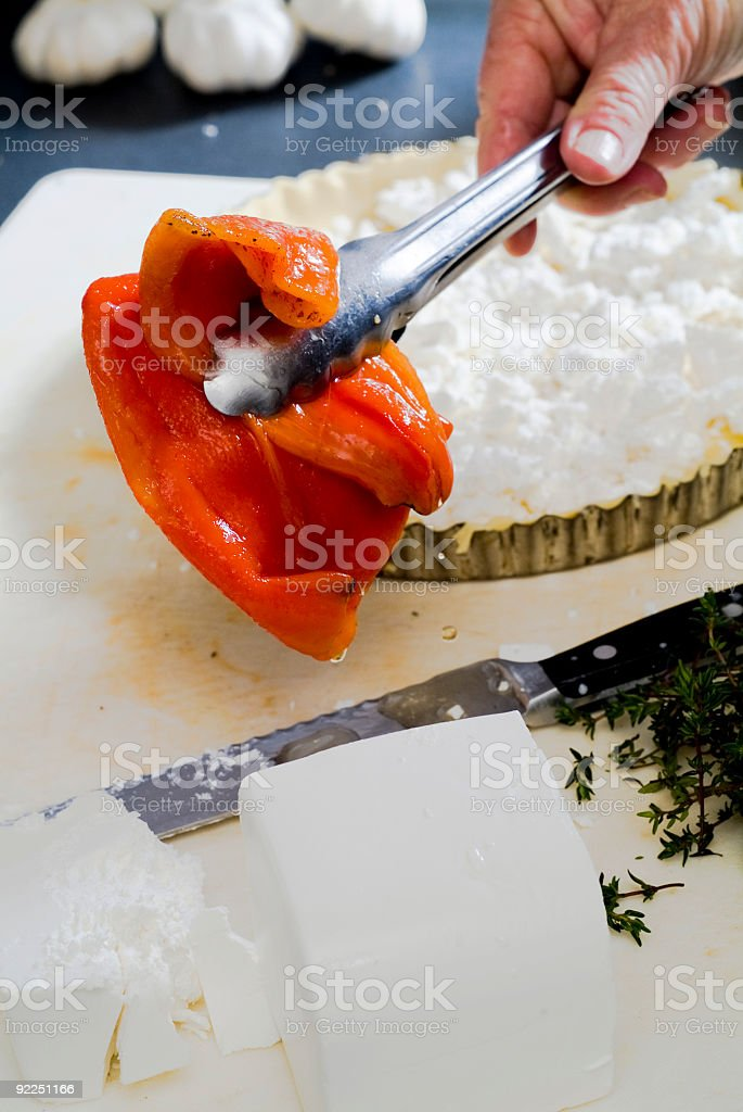 old hands and food royalty-free stock photo