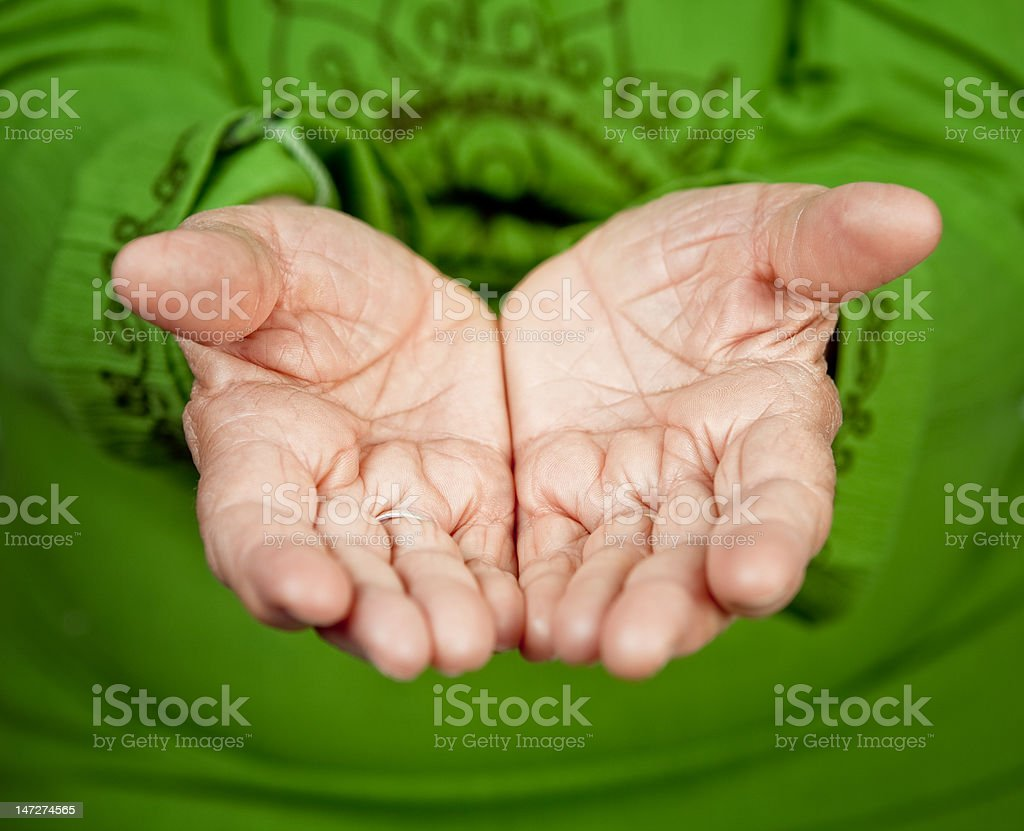 Old hands of senior woman royalty-free stock photo