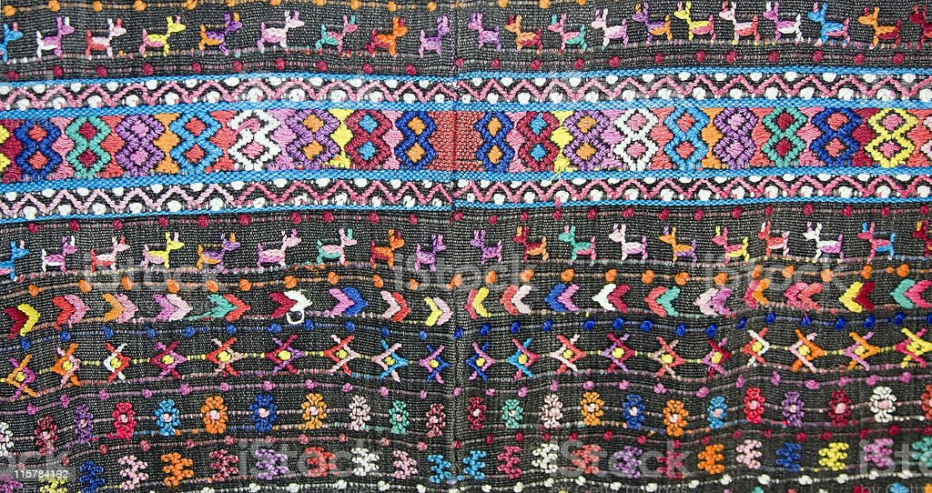 Old Handwoven Guatemalan textile royalty-free stock photo