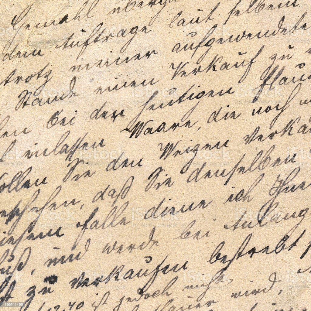 Old handwriting - circa 1881 royalty-free stock photo