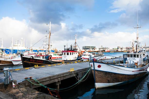 Old Harbor in Reykjavik, Iceland stock photo