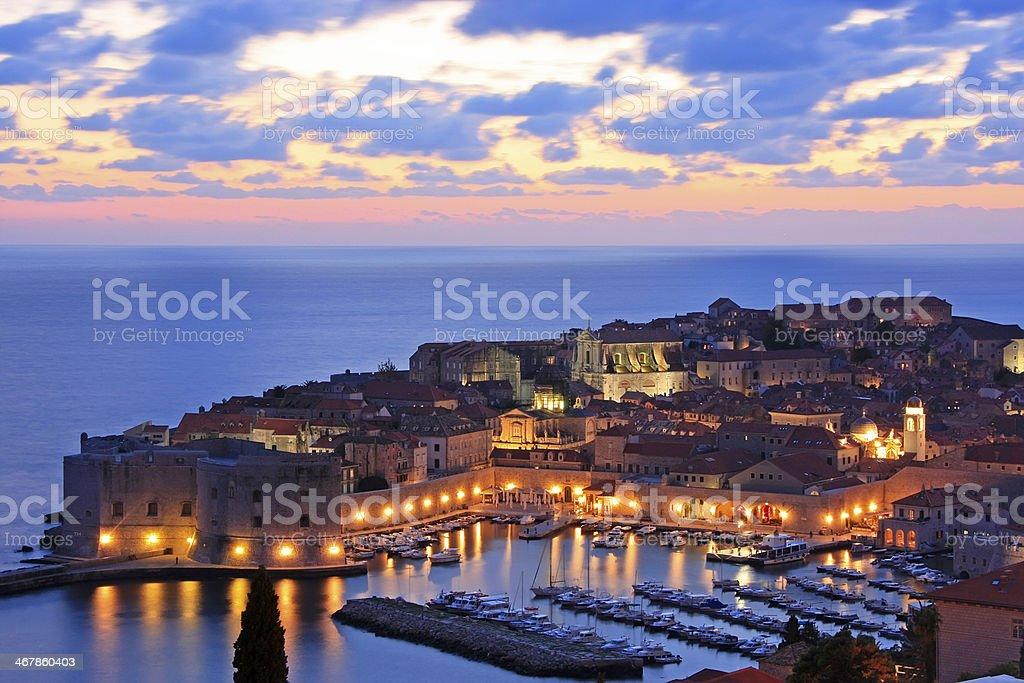 Old Harbour at Dubrovnik, Croatia stock photo