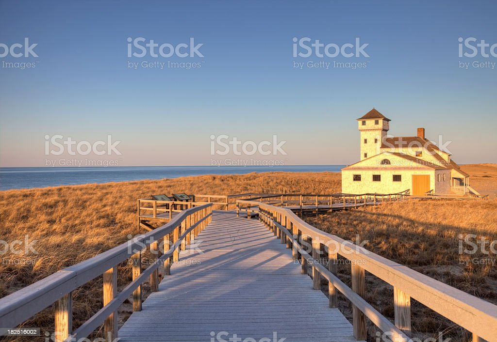 Old Harbour Life Saving Museum, Race Point Beach, Cape Cod stock photo