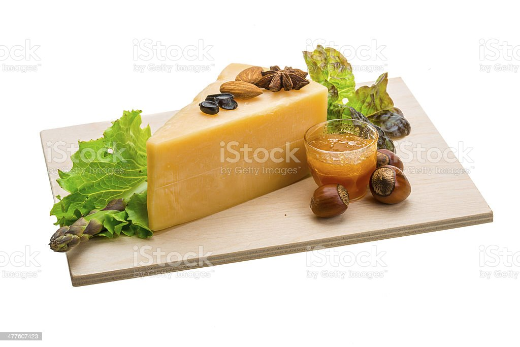 Old hard cheese royalty-free stock photo