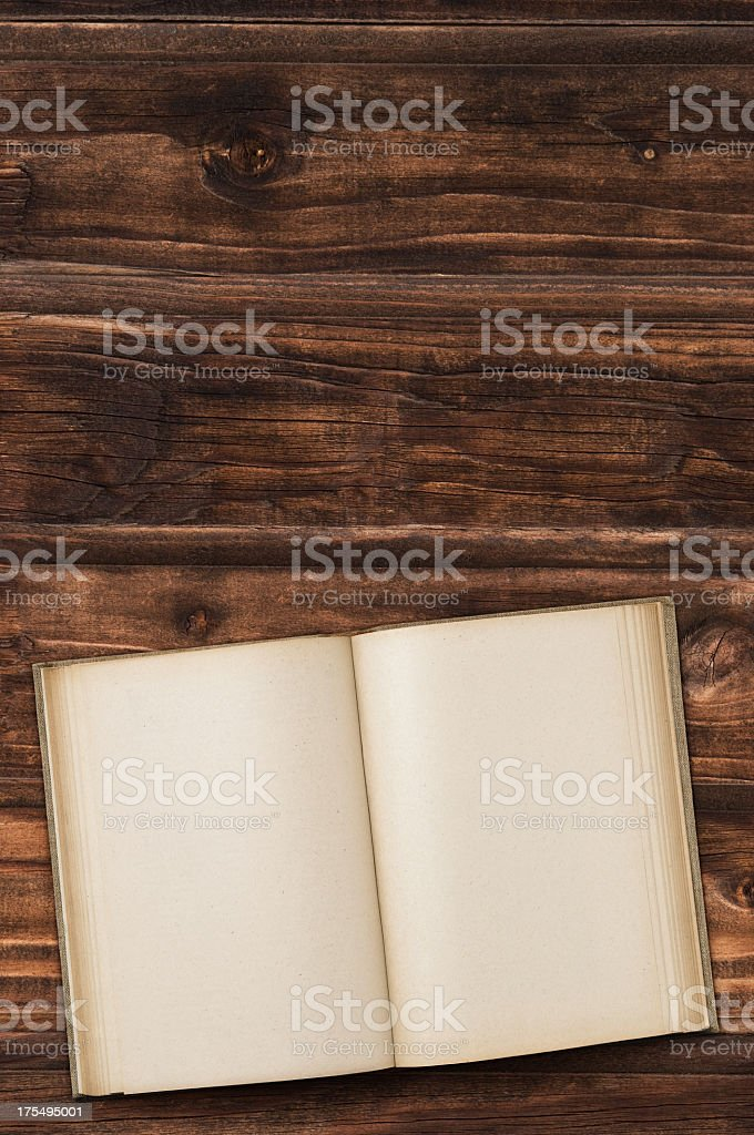 Old hardback book on table royalty-free stock photo