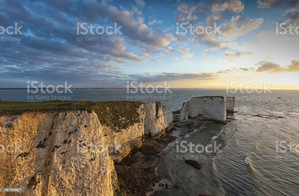 Old Harry Rocks, Jurassic Coast, stock photo