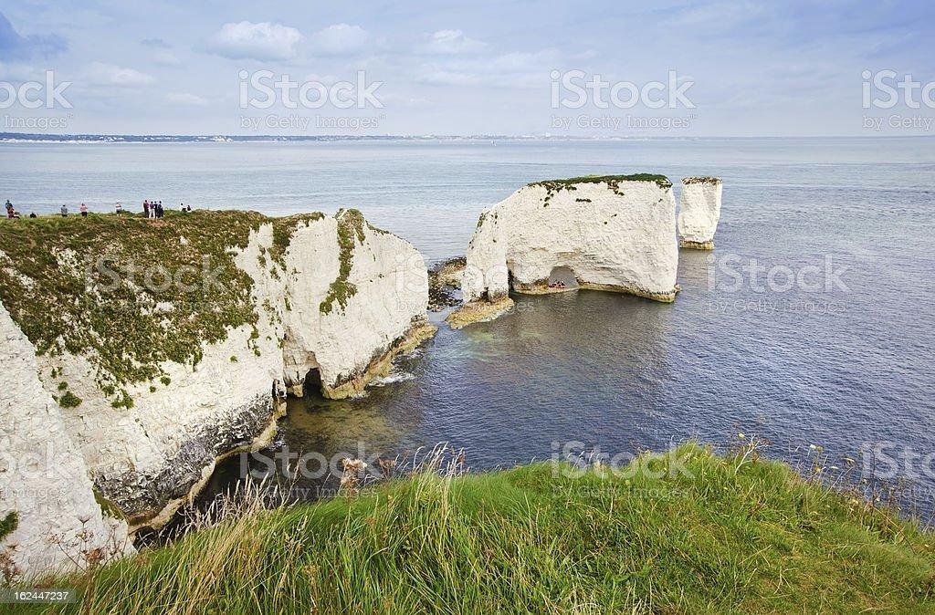 Old Harry Rocks Jurassic Coast UNESCO Dorset England royalty-free stock photo