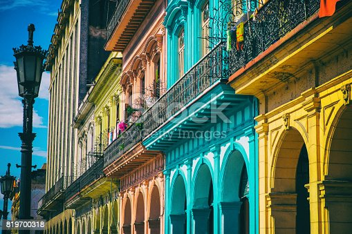 Colorful houses in old Havana