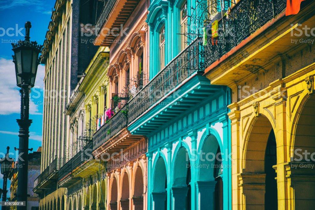 Old Havana Colorful Houses stock photo