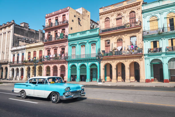 Old Havanna Downtown Street-Havanna, Kuba – Foto