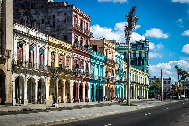 old havana downtown street - havana, cuba - cuba stock photos and pictures