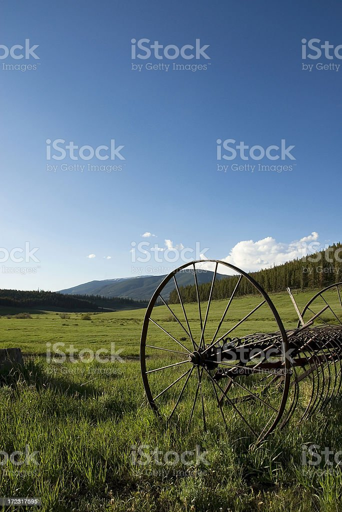 Old Hay Bailer in White Forest National Park, Colorado royalty-free stock photo