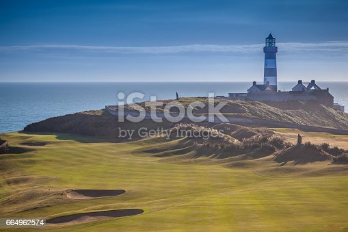 The beautiful golf links at the Old Head Of Kinsale and lighthouse.