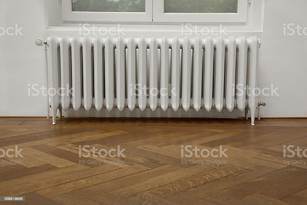 Old Heating Radiator stock photo