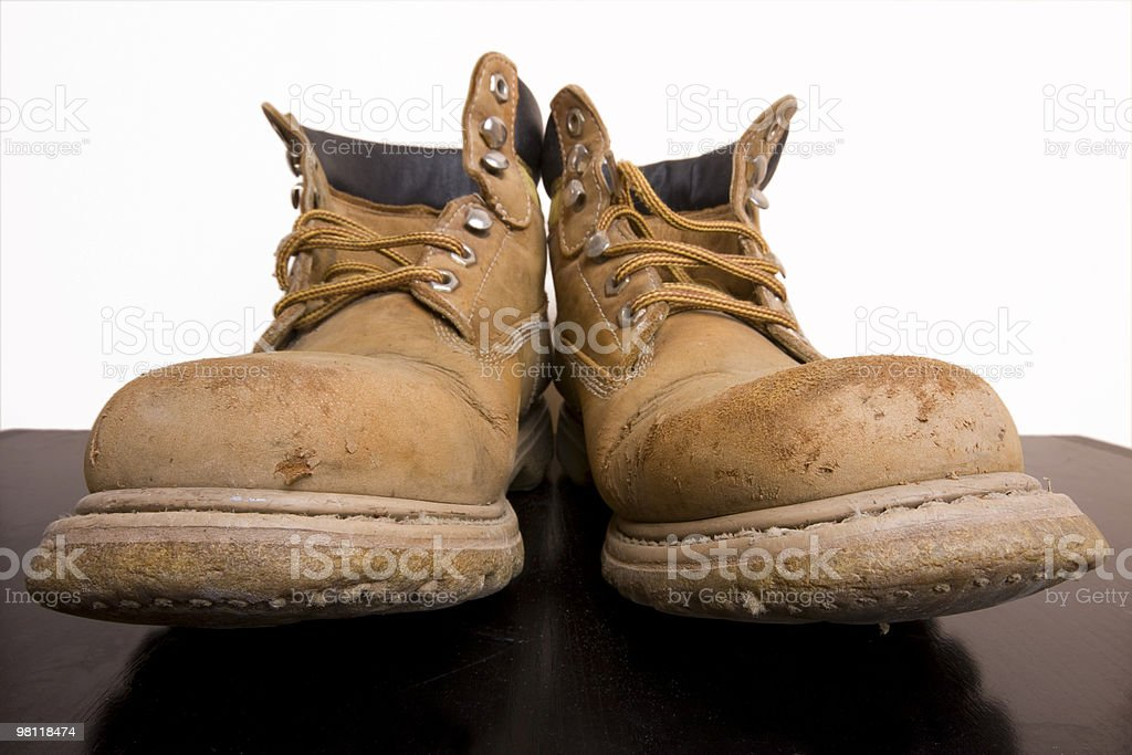 Old heavy boots royalty-free stock photo