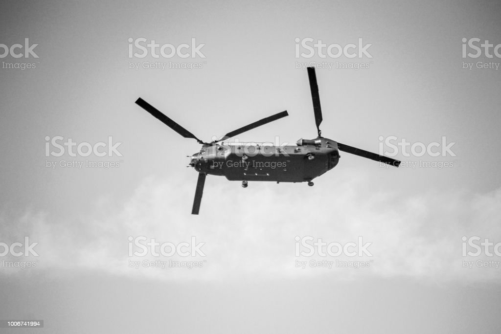 old Helicopter in London England UK stock photo