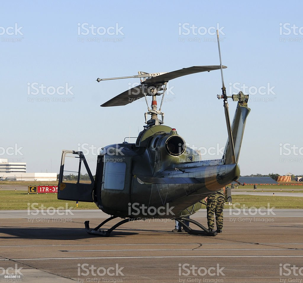 Old helicopter royalty-free stock photo