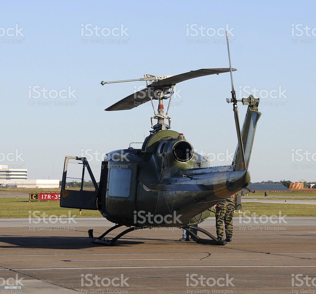 Vecchio elicottero foto stock royalty-free