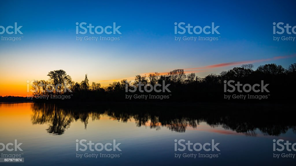 Old Hickory Reflection stock photo