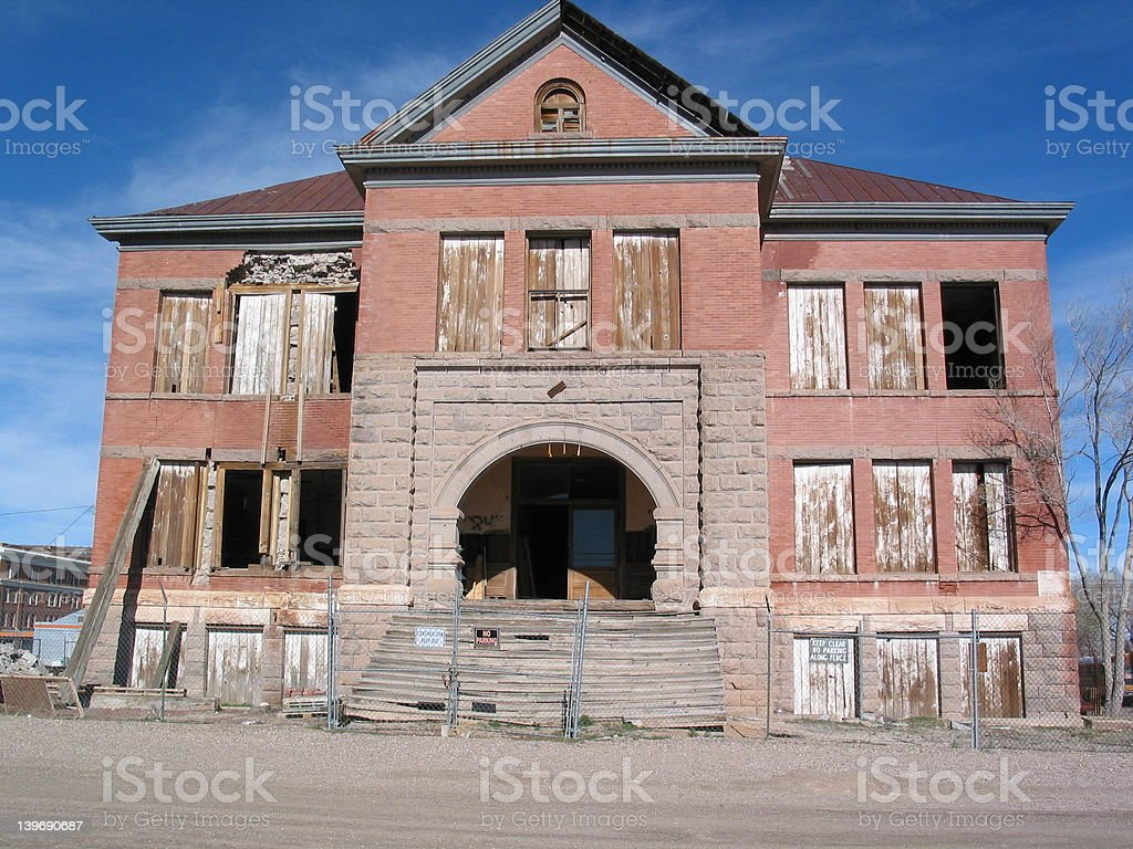 Old High School Building royalty-free stock photo