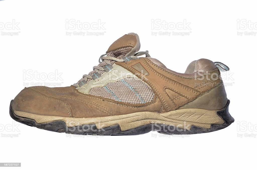 old hiking shoe royalty-free stock photo