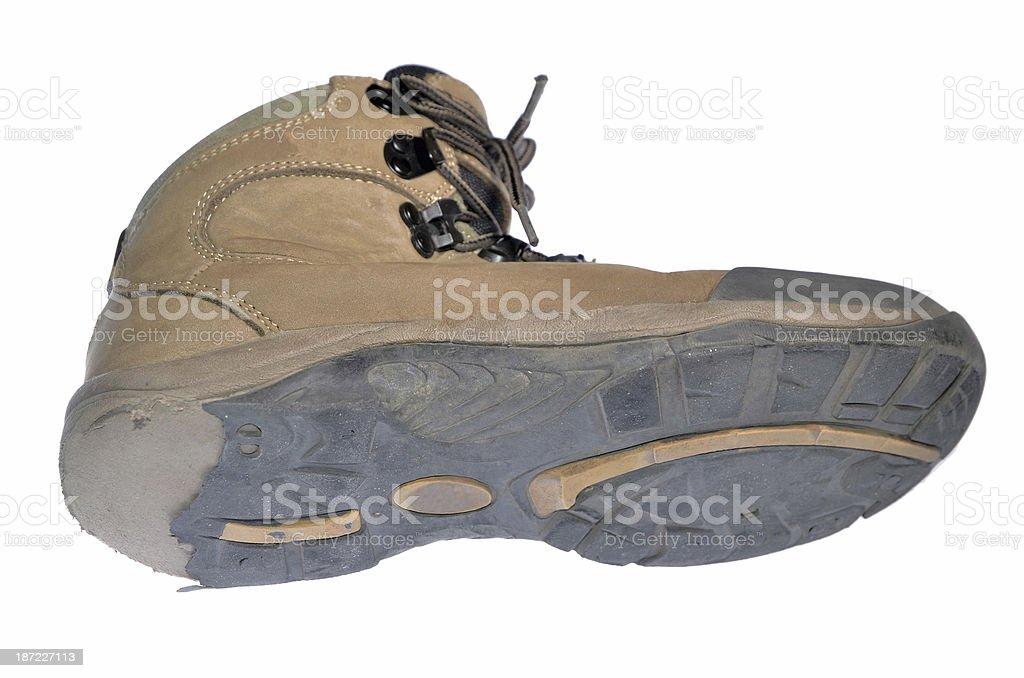 old hiking shoe royalty-free stock photo