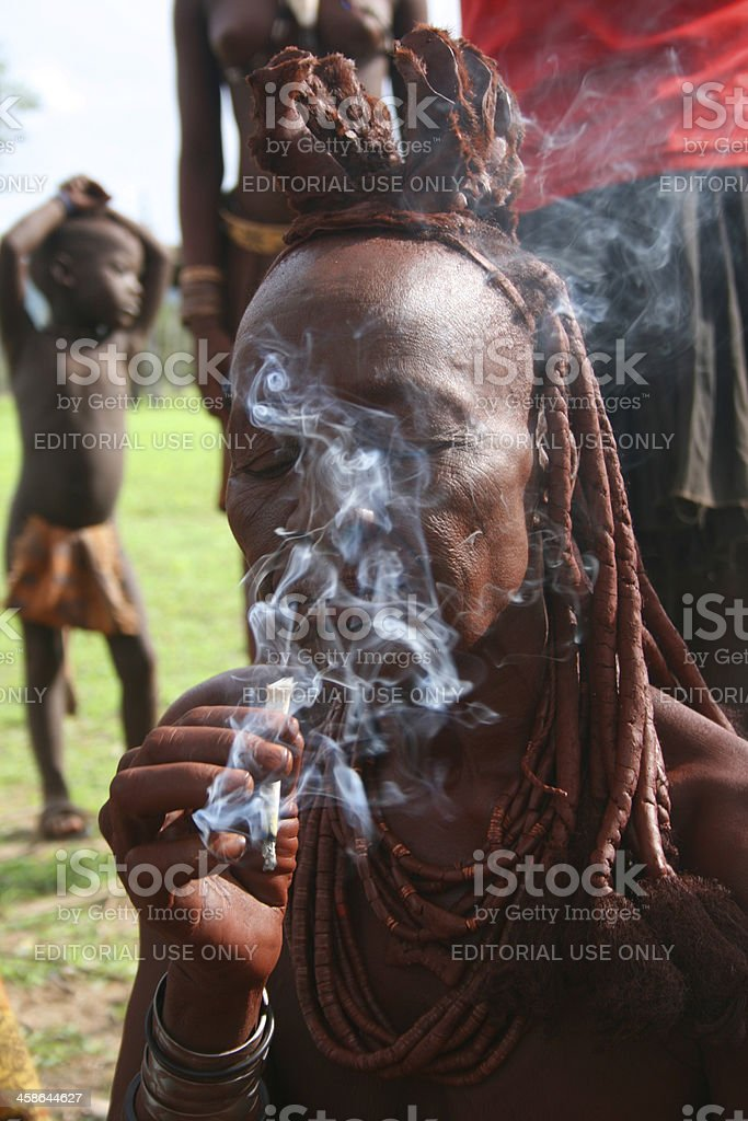 Portrait of Himba woman with traditional hair style