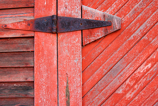 Old Hinge of Barn Door