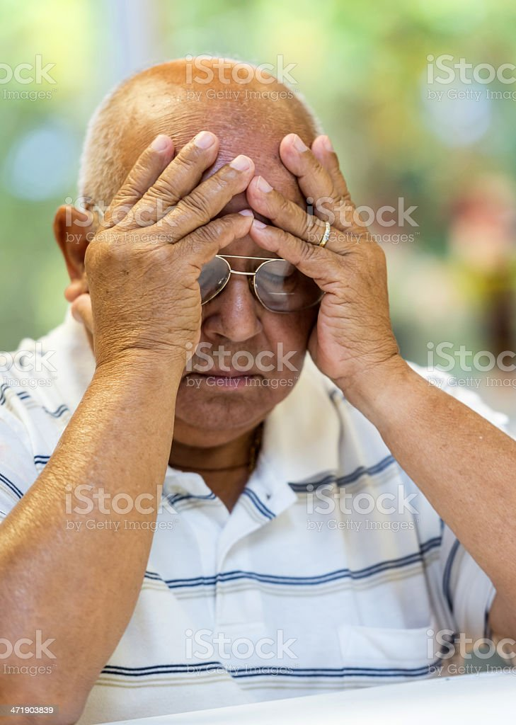 Old Hispanic man royalty-free stock photo